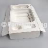 OEM甘蔗浆可降解纸托,环保白色网纹纸托